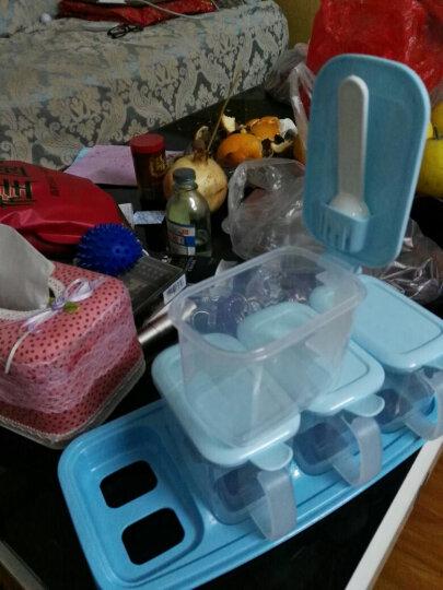 新陵 厨房用品调味盒调味罐组合调料盒套装塑料创意4格带勺80008多功能颜色随机 晒单图