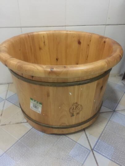嘉熙木桶泡脚桶足浴泡脚木桶洗脚盆足浴盆香柏木 浴足桶2型 直径410*高270 晒单图