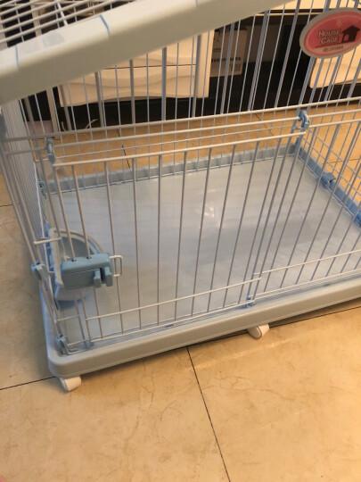 爱丽思 室内养狗笼子 泰迪 博美 巴哥等 小型犬专用 可以折叠的 树脂平底 双开门 狗笼子 单独笼子 蓝色 晒单图