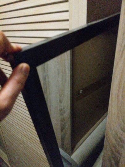 华申(HUASHEN) 穿衣镜 田园风壁挂镜子穿衣镜全身试衣镜糖果色悬挂镜 C0007挂 神秘黑 500mm*1500mm 晒单图