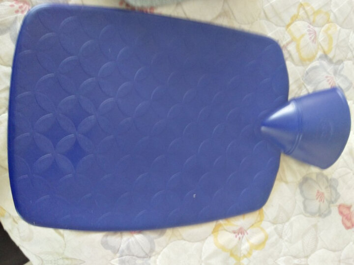 德国原装进口HUGO FROSCH热水袋1.8L加厚卡通绒布防爆无异味注水充水暖水袋非充电暖手宝 纯色长绒毛 紫色 晒单图