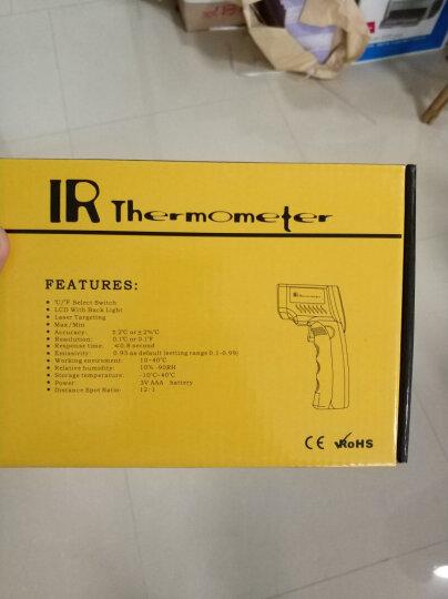 东美(Dongmei)测温枪工业高精度电子温度计手持式高温红外线测温仪 DT-530标配-50度-530度红色 晒单图