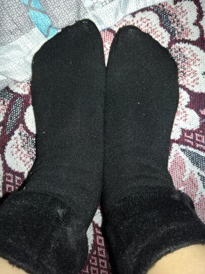 南极人冬天加厚加绒地板袜女 成人中筒加厚雪地袜 睡眠月子保暖短袜 1黑+2肤 均码 晒单图