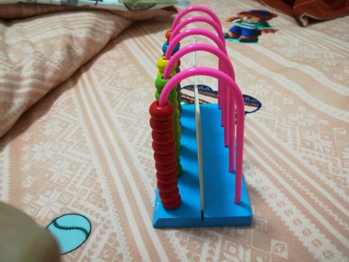 贝伦多 木制早教启蒙儿童玩具数学教具计算架小学生计数器珠算架算盘 木质数数棒算术教具 100根数字棒+字母卡片 晒单图