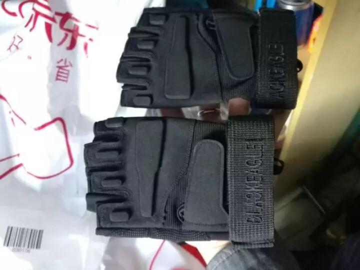 博沃尼克 半指手套运动军迷特种兵户外休闲健身登山防滑 骑行战术手套 黑色M码 晒单图