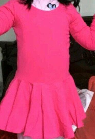 塞纳伽 儿童舞蹈服女童芭蕾舞练功服连体开档裙秋冬款幼儿形体服芭蕾舞裙子 蓝色长袖 150cm 晒单图