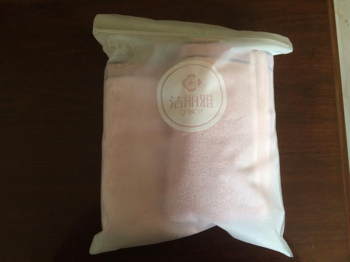 洁丽雅(Grace)毛巾家纺 复古铜钱系列纯棉强吸水毛巾 两条装 紫 115g/条 34*76cm 晒单图