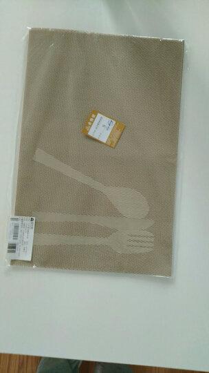 宝优妮厨房餐垫隔热垫防滑餐桌垫餐厅防烫西餐垫欧式放餐具垫 PVC家用4片装DQ9034-11 晒单图