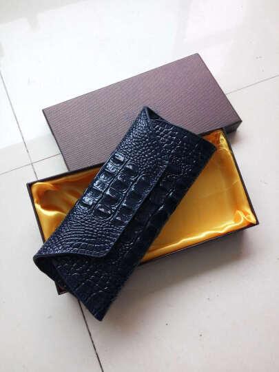 真皮钱包女2019新款日韩版大容量学生钱夹个性女士长款钱包时尚女式手机包 深蓝色 晒单图