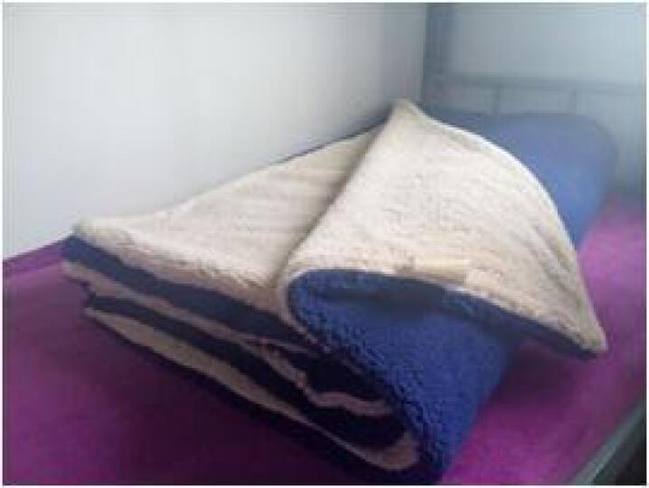 眠趣羊羔绒冬季毛毯加厚床层珊瑚绒毯子双人空调保暖盖毯沙发毯子 双层毛毯 150cm*120cm 晒单图