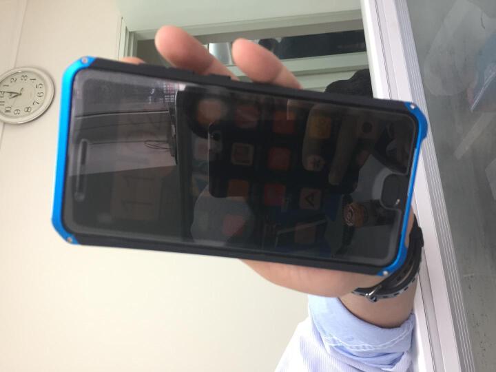 雷克信(LEIKEXIN) 小米6/小米note3手机壳金属边框全包磨砂防摔保护套硬壳 小米note3三段式-蓝边黑 晒单图