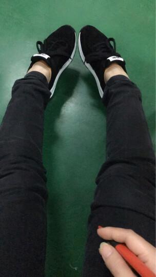 ZHR休闲鞋女圆头系带厚底女鞋时尚舒适轻便跑步鞋2019新款 黑色 37 晒单图