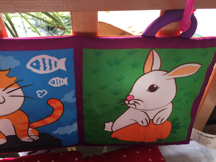 LALABABY/拉拉布书 婴儿 启蒙视觉训练床围 布艺车护栏床围 可爱动物A款 晒单图