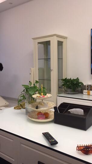 鹏景雅居 欧式酒柜电视柜组合 田园木质酒橱 客厅柜展示柜白色 单双门可选X84 双门酒柜 晒单图