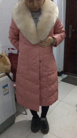 尧艾魅 羽绒服女2017冬季新款韩版修身轻薄显瘦大码女装时尚中长款长外套女 9135 灰色 XL 晒单图