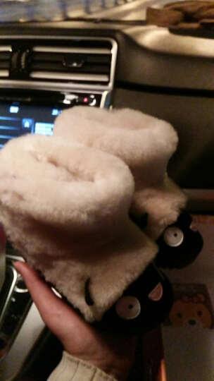 马丁鹿(Madinglu) 儿童雪地靴2017冬季羊皮毛一体短靴1-3岁女童保暖宝宝棉鞋 小鱼 25码/内长16.5cm 晒单图