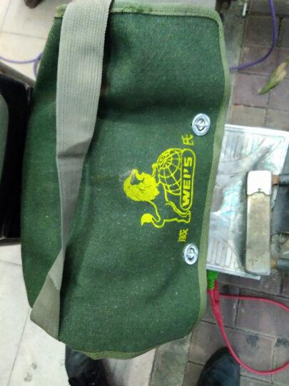 百威狮 双层特厚电工包 单肩式工具包 工具袋 工具挎包 帆布包 电工袋 特大号双层(45cm) 晒单图