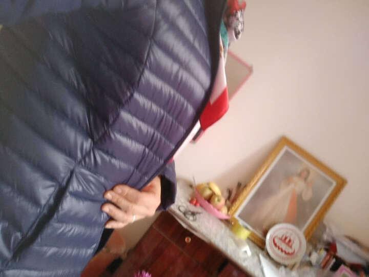 慕源羽绒服女2018冬装新品女装韩版修身中长款连帽轻薄羽绒服女7755 咖啡色 XL 晒单图