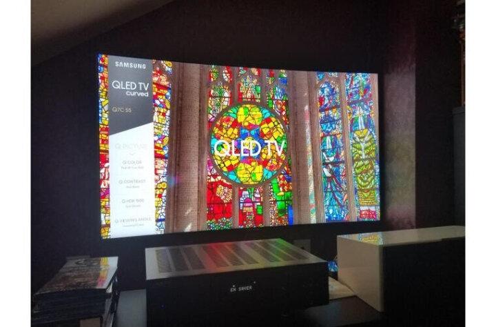 三星(SAMSUNG)QA75Q8CAMJXXZ 75英寸4K超高清QLED光质量子点曲面超薄电视机 晒单图