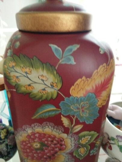 瓷器家居摆件 室内陶瓷装饰复古储物罐收纳罐 玄关摆设 红色款 晒单图
