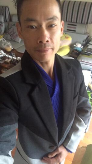 花花公子风衣男中长款2017秋冬新款修身翻领加棉加厚男士毛呢大衣男装呢子外套 酒红色 8892 M 晒单图