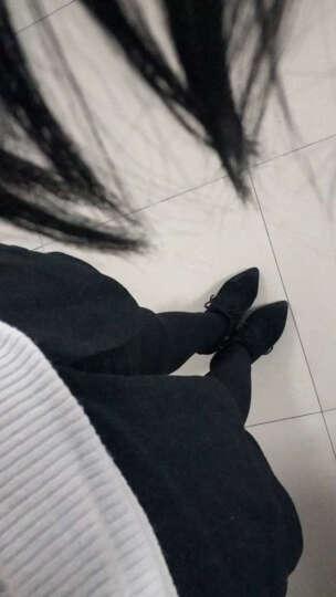 货到付款 名人颜色2018秋冬新款短靴女韩版尖头女靴高跟系带马丁靴女真皮细跟靴子女裸靴女 波尔多色 35 晒单图
