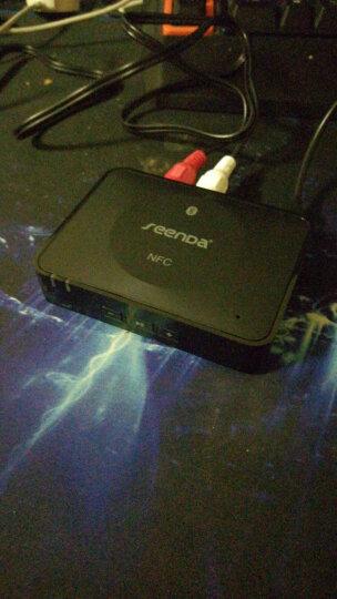seenDa 蓝牙音频接收wifi适配器转换器无线蓝牙音箱NFC有线音响 黑色 晒单图