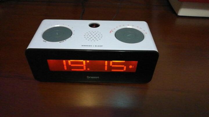欧西亚(Oregon Scientific) 收音机投影电子钟创意静音床头双闹铃RRA320PN 晒单图