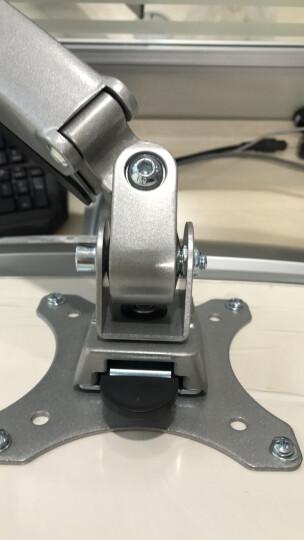Brateck LDT10-C012(13-32英寸)液晶电脑显示器支架 桌面万向旋转升降显示屏支架臂 单屏底座气压架 晒单图