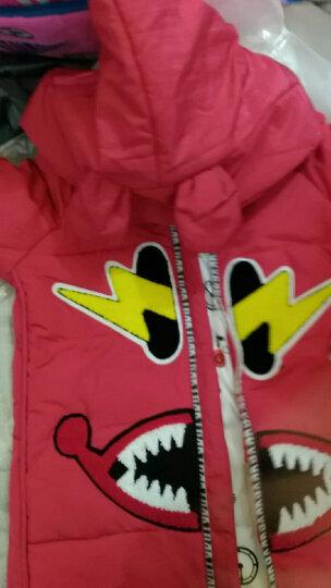 酷多啦儿童羽绒服女童冬装中长款白鸭绒2017新款外套小中大童学生女孩外套 紫色 130 晒单图