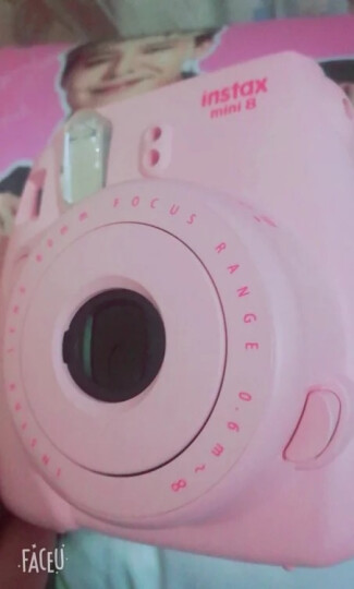 富士INSTAX 立拍立得 一次成像相机 MINI8相机 粉色 晒单图