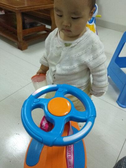 乐贝 儿童扭扭车 婴儿溜溜车摇摇车宝宝滑行玩具车1-3-6岁小孩车幼儿车 音乐款-闪光轮-橙蓝色 晒单图