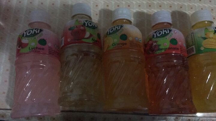 yoki马来西亚进口饮料 洋一果汁饮料320ml/瓶装 6口味随机5瓶 含椰果饮品 晒单图