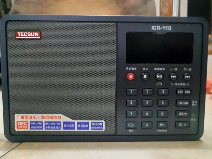 德生(Tecsun)ICR-100 收音机 复读机 插卡音响 录音机 老年人半导体 英语学习机 广播小音响(白色) 晒单图