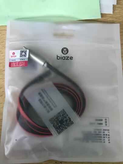 毕亚兹(BIAZE) 苹果8/7/6s数据线 1.2米 手机充电器电源线 K10红+黑 iPhone5/8 Plus/X/新iPad Air Mini 晒单图