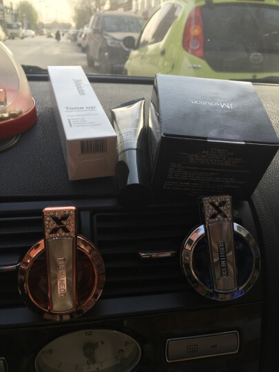 FAC飞鹰 汽车香水出风口香水夹车载香水摆件女镶钻空调香水瓶车用香水挂件香水座 酒红色 晒单图