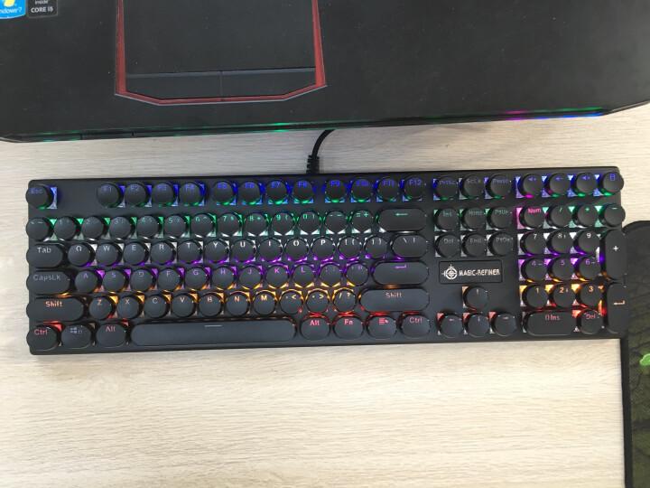 魔炼者(MAGIC-REFINER)1505 复古圆键帽108键专业电竞游戏机械键盘  绝地求生吃鸡键盘青轴 晒单图