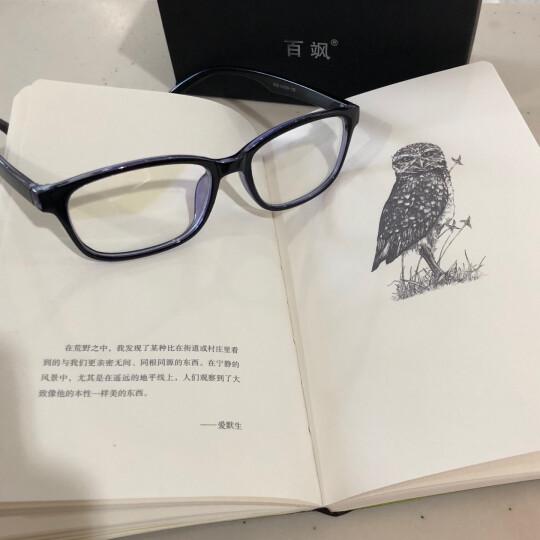 百飒防辐射眼镜防蓝光男士手机抗疲劳近视电脑游戏护目镜男女款平光眼镜框架可配变色近视眼镜 配1.61防蓝光近视镜片(建议0-600) 晒单图