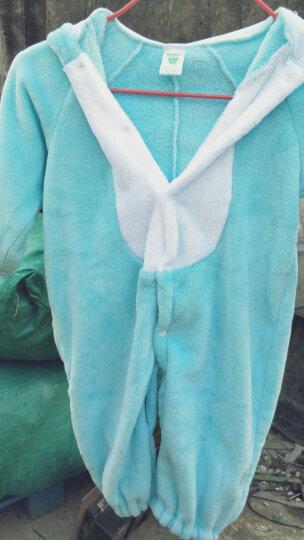 LOVEBBF 2017冬季新款 婴儿连体衣 珊瑚绒宝宝衣服 婴幼儿保暖外出服内衣用品 蓝星宝贝 80码 晒单图