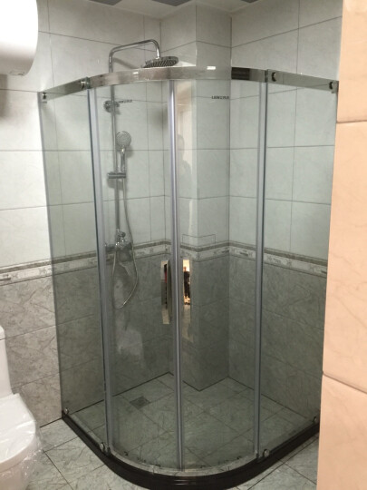 列武(liewu) 列武卫浴淋浴房整体玻璃门隔断屏风免费测量可定制弧扇型一字型L型方形 0.9m*0.9m*1.85m亮银+送易洁 上门测量券(请联系客服再拍) 晒单图