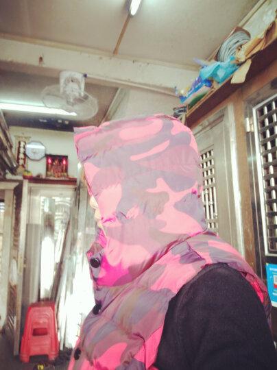 艾斯六佰2019韩版短款修身棉马甲女秋冬新款时尚羽绒棉连帽马夹背心女士棉衣外套 军绿迷彩 M 晒单图