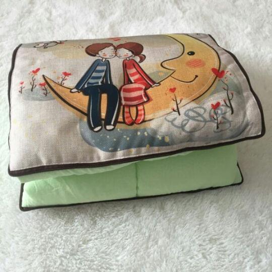 优曼达 多功能抱枕被靠垫腰靠办公室车用空调被生日过节礼物可定制图案 小象 43cm*43cm 晒单图