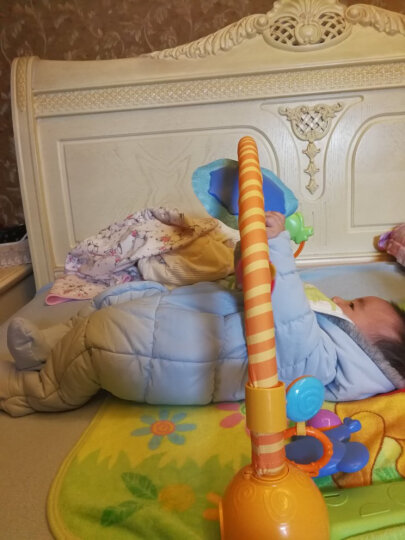 mothercare英国 婴儿冬装夹棉连体衣宝宝棉服男女小童0-1-2岁秋冬款保暖连帽衣服 MD376 90cm(90/52,无脚套) 晒单图