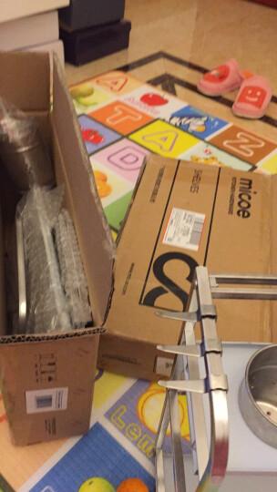 四季沐歌(MICOE) 厨房置物架收纳架调料架刀架厨房用品筷子筒 雅典黑双层40长带砧板架+带挡刀板 晒单图