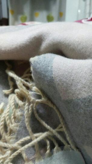曲町(quding)新款围巾女士秋冬季韩版学生百搭时尚格子大披肩两用冬天保暖加厚超大长款围脖礼盒 方格-米黄色 晒单图