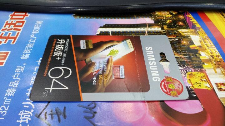 三星(SAMSUNG)64GB TF(MicroSD)存储卡 U3 C10 4K EVO升级版+ 读速100MB/s高速稳定(新老包装随机发货) 晒单图