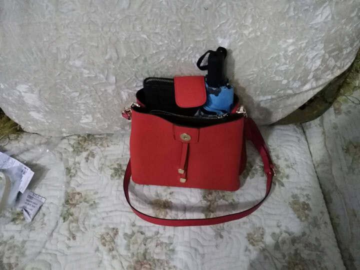 意大利L'ALPINA袋鼠 单肩包女 新款真皮女包韩版牛皮时尚休闲小单肩带女士时尚休闲 红色 晒单图