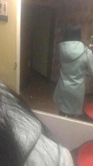 风沙渡 2017新款秋冬装女大衣女修身休闲韩版修身羊毛毛呢大衣女中长款羊绒双面呢子大衣毛呢 蓝色 M 晒单图