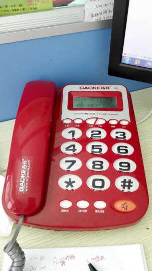 高科627 电话机座机有绳电话机来电显示办公家用固定大字固定座机 红色 晒单图