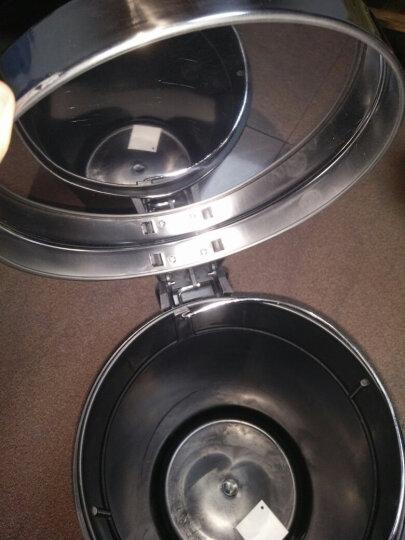 家杰 脚踏翻盖式不锈钢垃圾桶 家用厨房家居大号翻盖卫生桶 12L JJ-112 晒单图